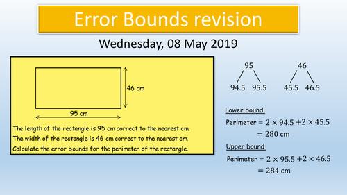 GCSE Maths KS4 : Error Bounds revision