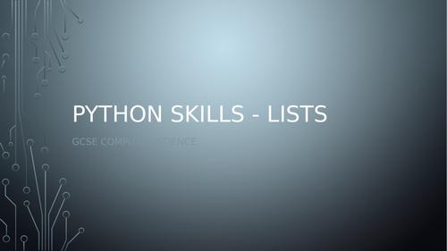 Python Skills Year 10 Lessons