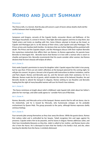 Romeo and Juliet Revision Guide (Plot, Characters, Themes, Quotes, Context)