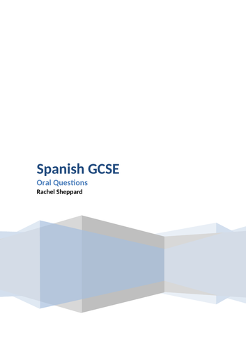 AQA Spanish Oral Test Questions GCSE