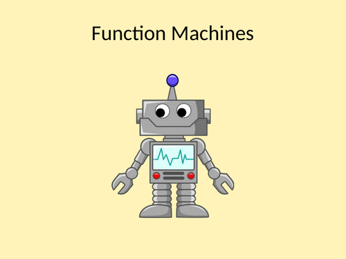 Function Machines presentation with worksheets