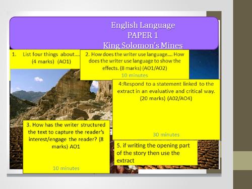AQA GCSE Language Paper 1