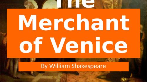 The Merchant of Venice Scheme of Work