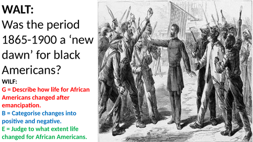 Life for African Americans after Slavery
