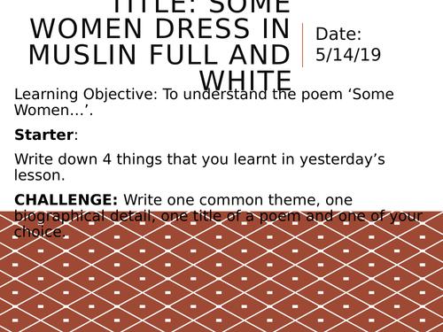 Edexcel A Level Paper 3 - Rossetti: Some Ladies
