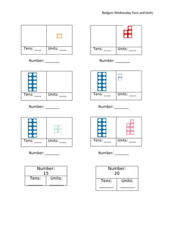Place Value with Numicon
