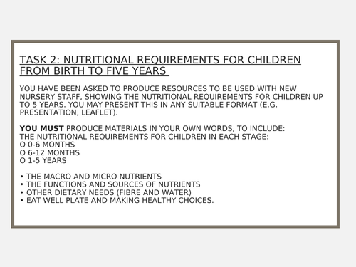 OCR Child Development - R019 - Task 2