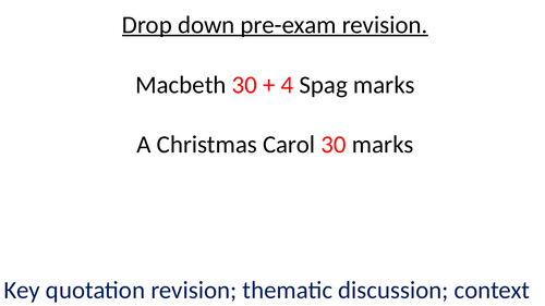 Pre-exam quotations for Macbeth, Lady Macbeth, Macduff with images and terminology