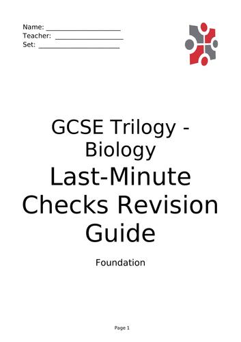 AQA (9-1) GCSE Biology Trilogy/Triple (H/F)- Paper 1 Revision Guide & Question Book.