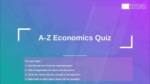 Economics Revision; A Level Economics