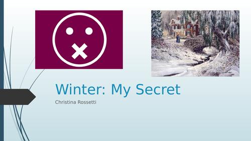 Rossetti Winter: My Secret full lesson