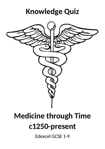 Medicine through Time Quiz Booklet (Edexcel GCSE 9-1)