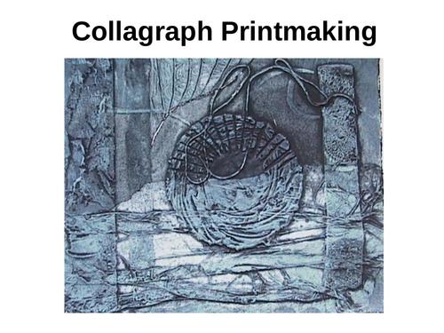 Art & Design Collagraph Printing Techniques