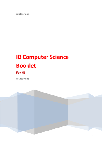 IB HL Comp Sci Booklet
