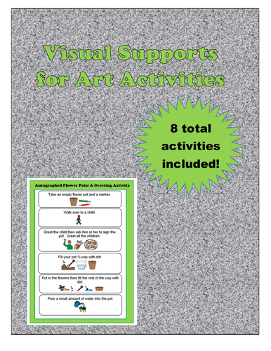 Visual Supports for Art Activities