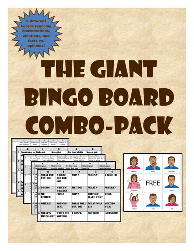 The Giant Bingo Board Combo pack