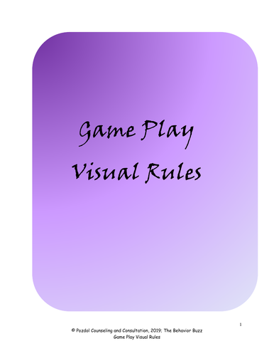 Game Play Visual Rules - Part 1