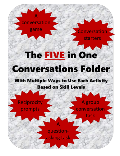 5 in 1 Conversations Folder - for a wide range of levels