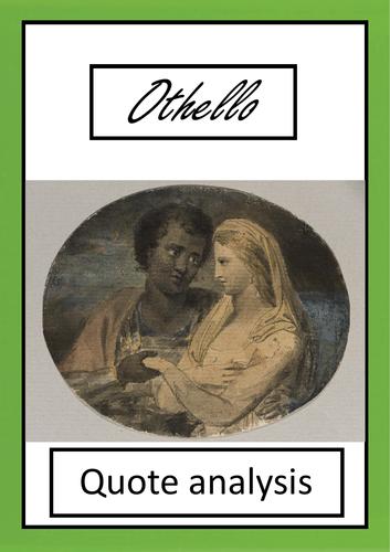 'Othello' quote analysis