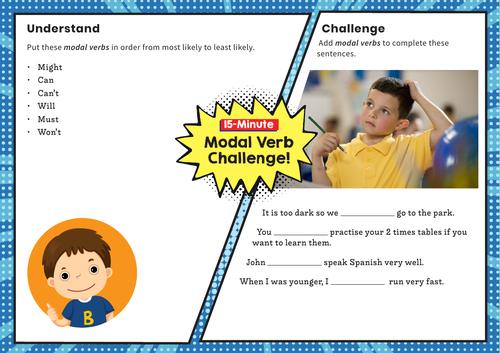 Modal Verbs – Y5 SPaG Challenge Mat