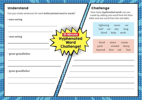 Hyphenated words – Y6 SPaG Challenge Mat