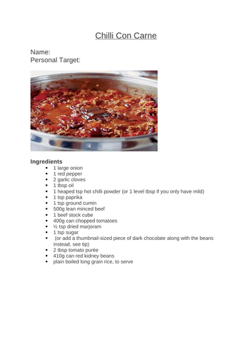 Independent Cooking Resources
