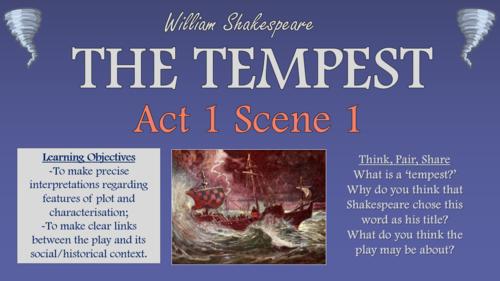 The Tempest - Act 1 Scene 1!