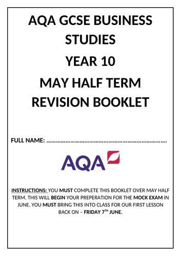 AQA GCSE 9-1 Business Studies Revision Booklet