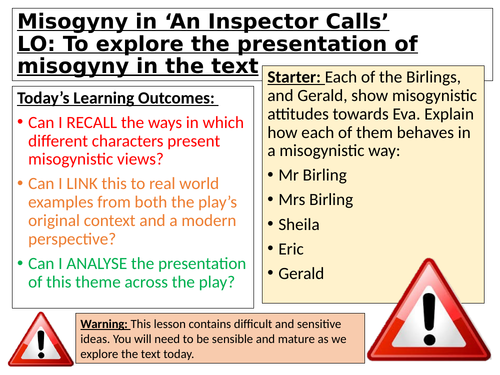 Women and Misogyny in 'An Inspector Calls'