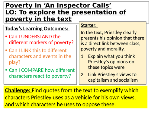 Themes in An Inspector Calls