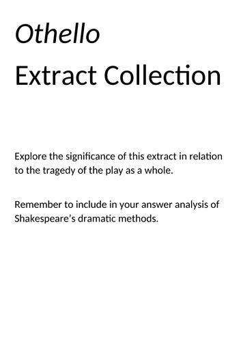 AQA Lit B: Othello Extract Booklet