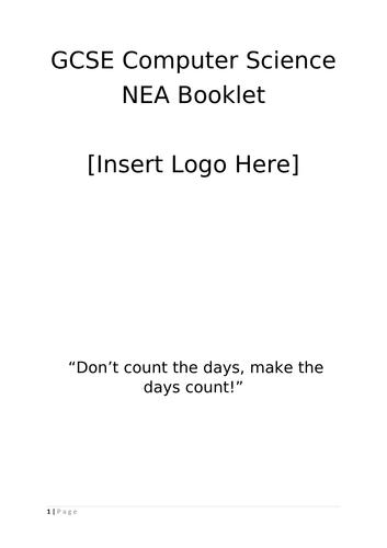 NEA Paper 2 Booklet