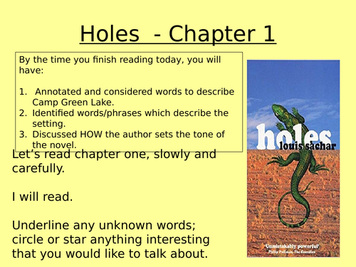Holes - chapter 1