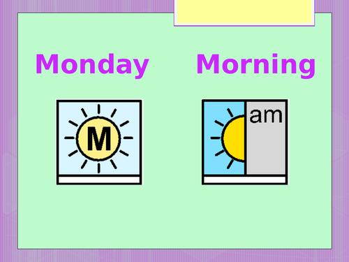 SEN Maths 4 Seasons + Days Of The Week SLD