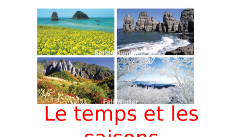 Weather and Seasons KS1 French