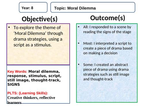 Moral Dilemma Drama lessons