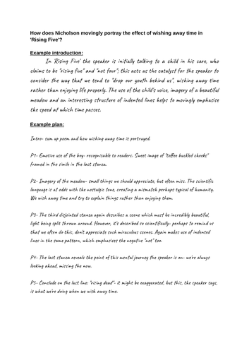 Essay Writing Resources: CIE Songs of Ourselves Volume 1 Part 3 Poetry