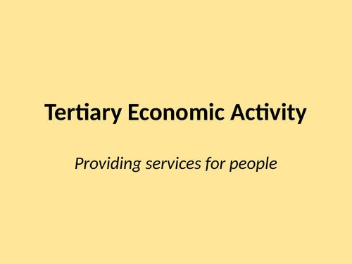 Tertiary economic activity