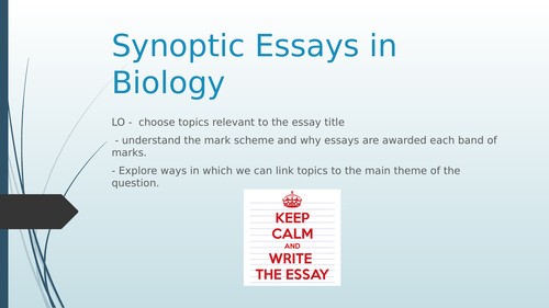 AQA Synoptic Essay (Paper 3)