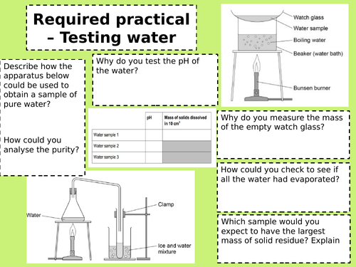 required practicals revision chemistry paper 2 AQA