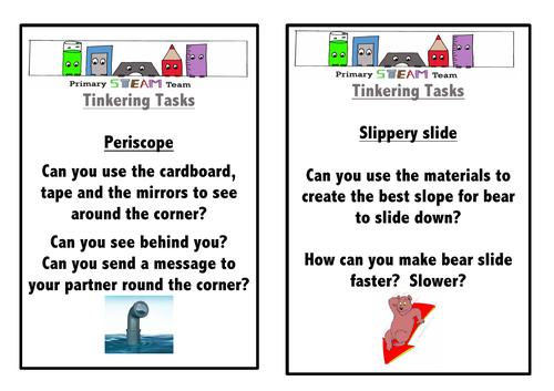 STEAM/STEM Tinkering tasks - Lesson ideas - STEM club - Maker space