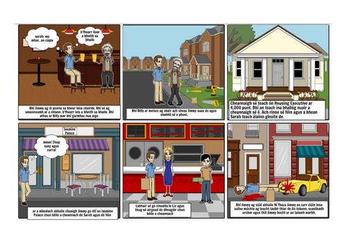 Storyboard - An Gnáthrud - prós- Gaeilge