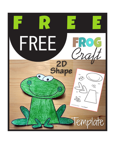 FREE Animal Craft Frog - Template Cut and Paste