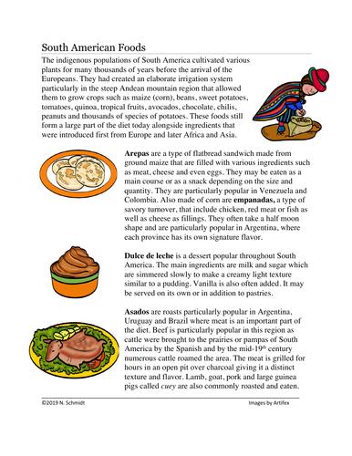 South American Foods: Arepas, Empanadas, Asados (English Verision/Sub Plan)