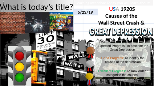 1920s USA: Causes of the Wall Street Crash & Great Depression 1929.