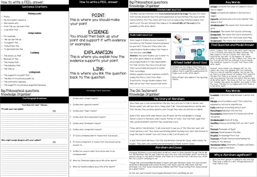 Year 7 RE revision pack
