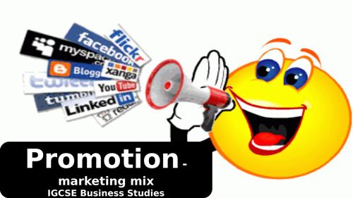 Promotion - marketing mixIGCSE Business Studies