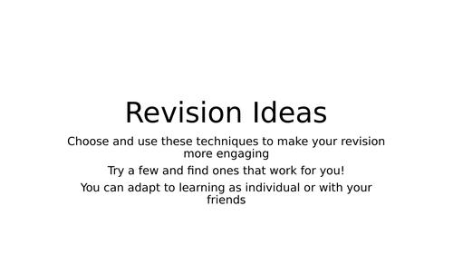 Revision Ideas for teachers