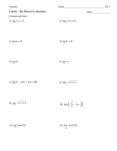 Calculus - Limits
