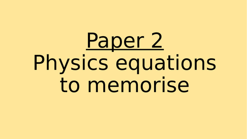 AQA Trilogy Physics Paper 2 Equations (Triangles)